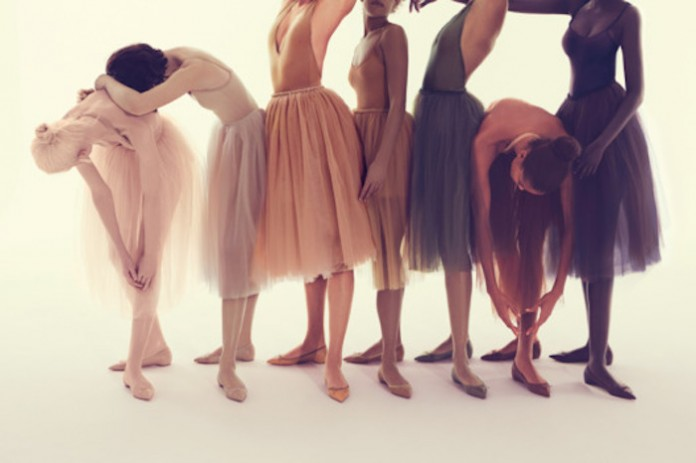 Christian Louboutin's 'Nudes' collection that includes ballet flats in shades for a variety of skintones courtesy: fashion journal
